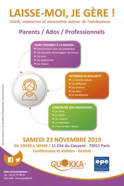 1er salon pour le parent d'adolescent